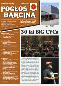 Pogłos Barcina – lipiec/sierpień 2018