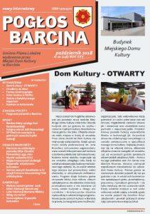 Pogłos Barcina – październik 2018